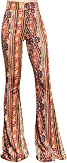 SMT Women's High Waist Wide Leg Long Palazzo Bell Bottom Yoga Pants