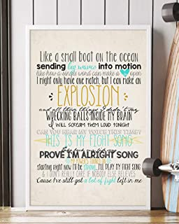 Trendora Decor Fight Song Song Lyrics Portrait Poster Print (16