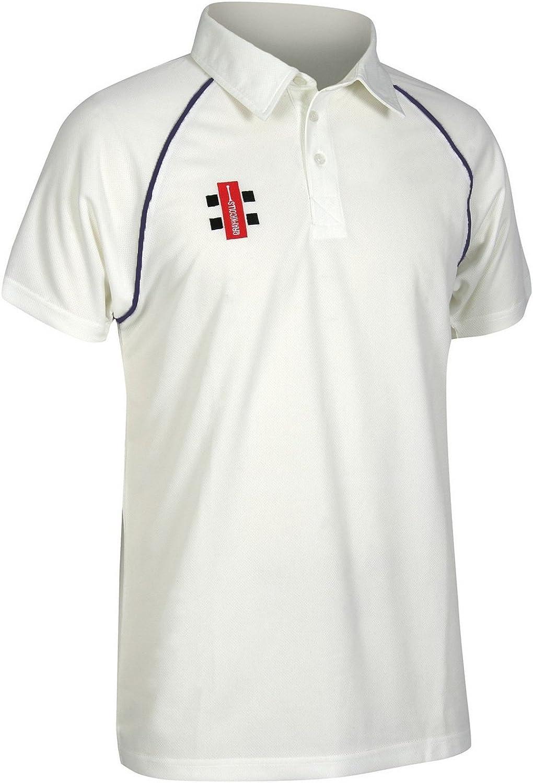 Direct stock discount Gray Ranking TOP5 Nicolls Mens Matrix Cricket Short Sleeve Shirt