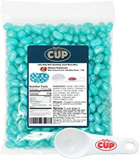 Jelly Belly Jelly Beans Bulk Sparkling Jewel Berry Blue 1 Pound Bag, Shimmer Pearlescent with By The Cup Portion Control Jelly Bean Scoop