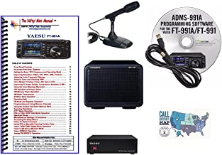 Yaesu FT-991A Accessory Bundle - 6 Items: Includes Yaesu Desk Mic, 23A PSU, Matching External Speaker, RT Systems Prog. So...