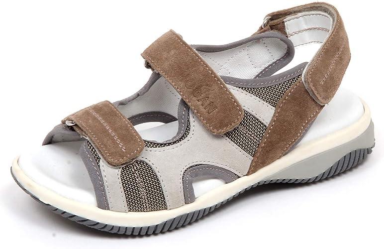 Hogan F7980 Sandalo Bimbo Boy Kid J114 Scarpe Taupe/Grey Shoe [30 ...
