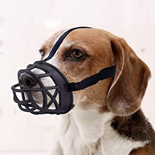 Mayerzon Dog Muzzle, Basket Breathable Silicone Dog Muzzle for Anti-Barking and Anti-Chewing