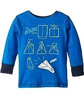 Paper Plane Preppy Long Sleeve Tee (Toddler/Little Kids/Big Kids)