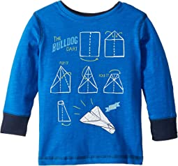 Paper Plane Preppy Long Sleeve Tee (Toddler/Little Kids/Big Kids)