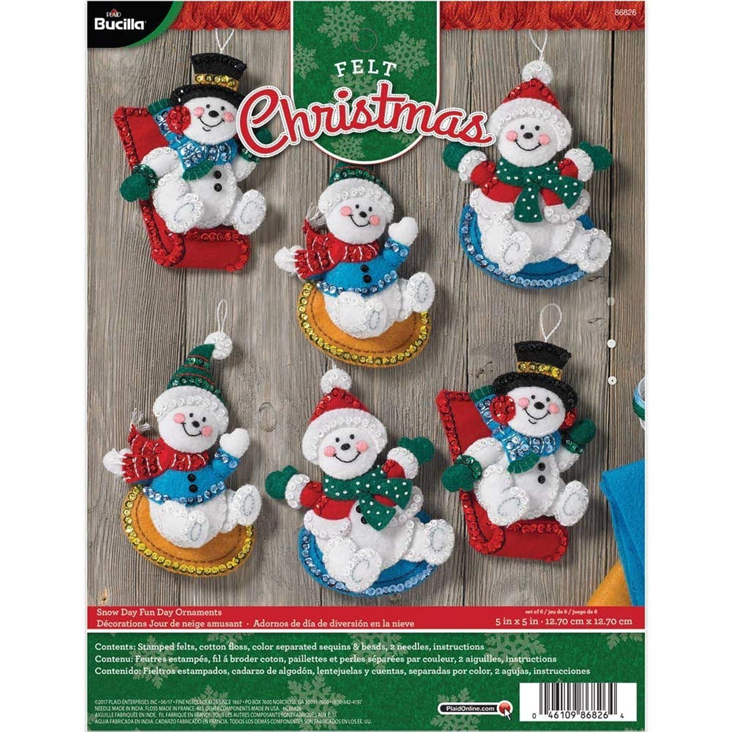 Bucilla 86826 Snowday Funday Ornament Kit
