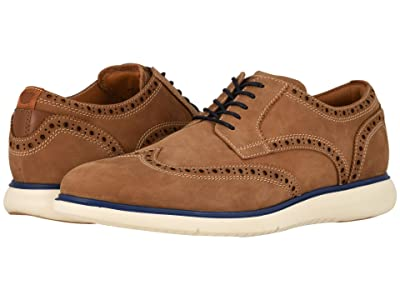 Florsheim Fuel Wing Tip Oxford (Tan Nubuck w/ White Sole) Men