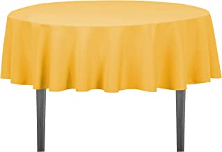 LinenTablecloth Round Polyester Tablecloth, 70-Inch, Gold