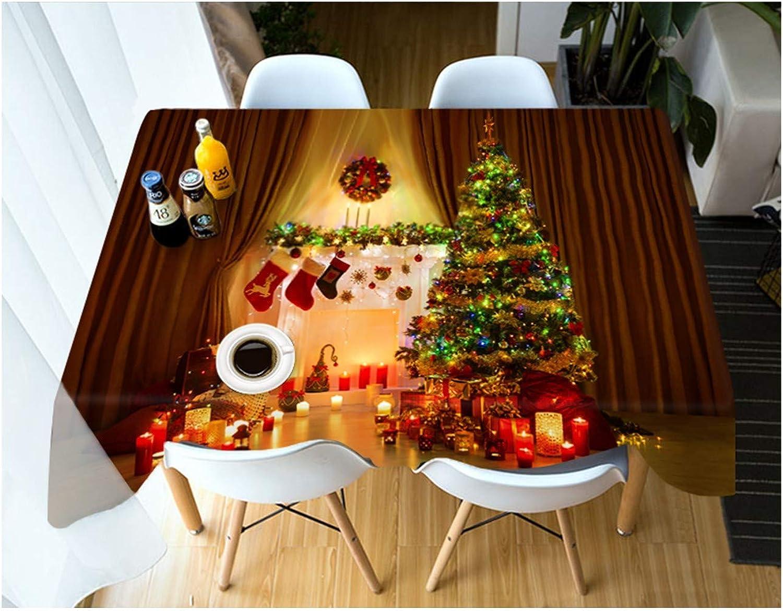 autorización oficial ZHAOXIANGXIANGMantel De Navidad Poliéster Impreso Digital Cuadro Mat Elegante Elegante Elegante Decoración del Hogar Creativo árbol De Navidad Patrón,152×259Cm.  ¡envío gratis!