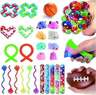 Fidget Toys Set 31 Pcs-Sensory Toys for Kids and Adults Relieves Stress and Anxiety Small Toys Assortment for Birthday Party Favors, Classroom Rewards Prizes, Piñata Goodie Bag