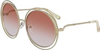 959ec8f9a571 Chloe CE114SC 724 Gold Peach Carlina Chain Round Sunglasses Lens Category 2  S