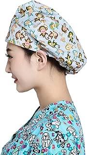 H-Shero Adjustable Surgical Scrub Cap Medical Doctor Bouffant Hat Sweatband Scrub Hat Women/Men