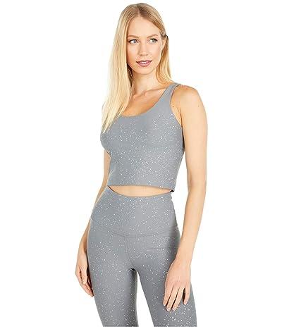 Beyond Yoga Alloy Strappy Cropped Tank (Stone Gray Silver Dizzy Speckle) Women