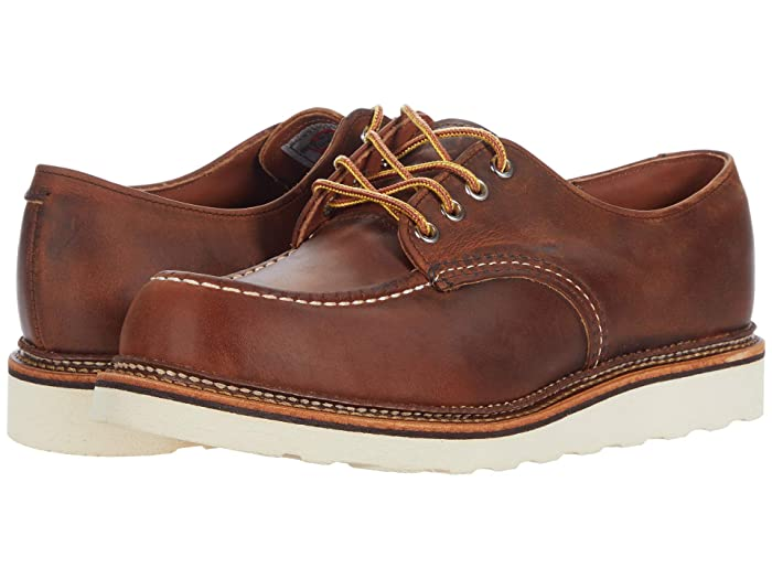 Men's Vintage Workwear Inspired Clothing Red Wing Heritage Work Oxford Copper Rough  Tough Mens Shoes $269.99 AT vintagedancer.com