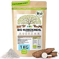 Maniokmehl Bio Cassava Mehl │1000g +100g extra XXL Vorteilspack 1,1kg│Paleo, Glutenfreies Mehl, Vegan, keine Gentechnik,...