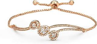Fancy Adjustable Cubic Zirconia Chain Link Bracelet for Girls & Women Fashion Jewellery