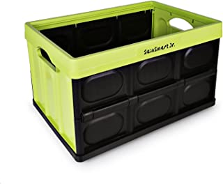 SainSmart Jr. Foldable Box Bin with Tote 46 Liter Collapsible Storage Container, Green