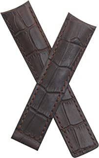 Dark Brown Crocodile-Style Leather Strap to fit TAG Heuer Grand Carrera Models Listed Below