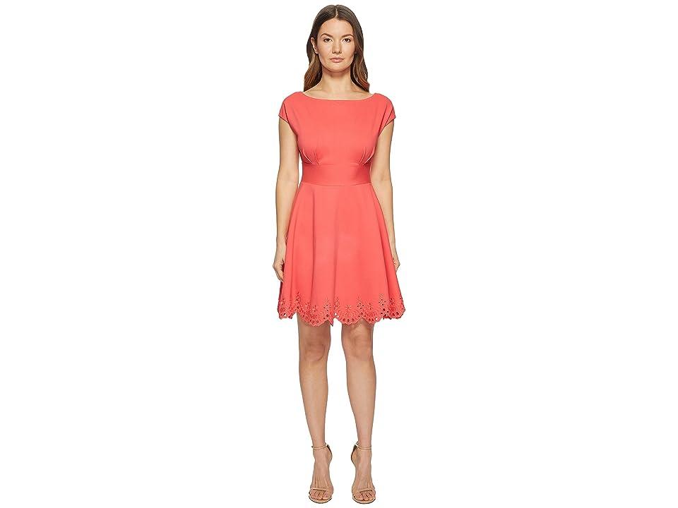 Kate Spade New York Cutwork Fiorella Dress (Peach Sherbet) Women