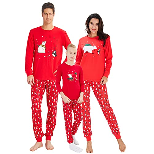 RAISERVEN Family Matching Christmas Loungewear Set Long Sleeve Pajamas  Sleepwear Top Trousers Sets for Family Daddy d516b89dc
