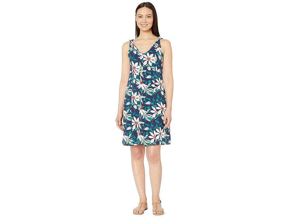 Royal Robbins Essential Tenceltm Twist Dress (Ink Blue Print) Women