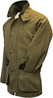 Walker and Hawkes Men's Derby Tweed Hunting Jacket Light Sage