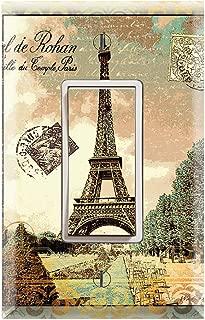 Graphics Wallplates - Vintage Paris Eiffel Tower - Single Rocker/GFCI Outlet Wall Plate Cover