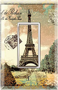Graphics Wallplates - Vintage Paris Eiffel Tower - Single Rocker/GFCI Outlet Wall Plate Cover
