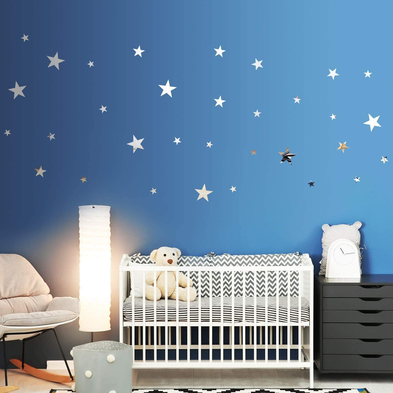 32 Pieces Removable Star Ranking TOP2 Mirror Setting Acrylic 2021new shipping free shipping Stickers