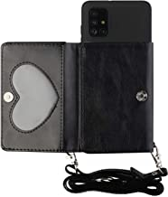 TYWZ Crossbody Case voor Samsung Galaxy A71, Schouderriem Portemonnee PU Lederen Flip Cover met Creditcard Houder Stand Fu...