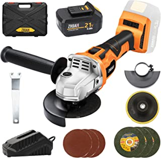 Sponsored Ad – ZHJAN 20V Cordless Angle Grinder,100mm,8700RPM,4.0Ah Lithium-Ion Battery and Fast Charger,Includes 3 Cuttin...