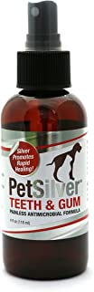 PetSilver Teeth & Gum Spray for Dogs and Cats | Vet Formulated | Natural Dental Care Solution | Control Tarter and Plaque ...