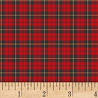 Windham Fabrics A Walk In The Woods Plaid Fabric, Red, Fabric By The Yard