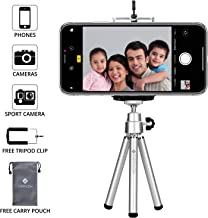 Everycom Extendable Legs 20cm Silver Color Mini Tripod Stand with Universal Grip Mount for Mobile Phone & DSLR Camera