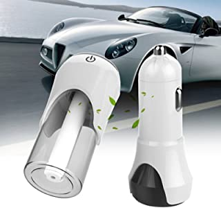 Polar Bear's Shop Universal Vehicle Car Humidifier Air Purifier with Dual USB Car Charger auto Oxygen Bar Suit Aromatherapy Mist Maker Fogger (Approx. 90 X 75 X 30mm/3.54 X 2.95 X 1.18in, White)