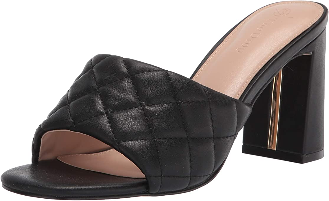 The Drop Women's Pattie High Block Heeled Mule Sandal