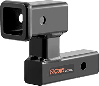 CURT 45794 Raised Trailer Hitch Extender, Fits 2-Inch Receiver, Extends Receiver 5-1/4 Inches, 4-1/4-Inch Rise (Renewed)