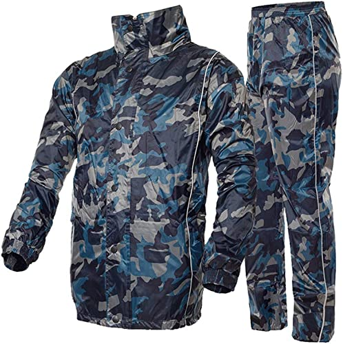 YuFLangel Imperméable Imperméable à l'eau Veste et Pantalon de Pluie, imperméable Costume imperméable Combinaison de Pluie, vêteHommests de plu