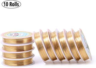 Wholesale Craft Wire KC Gold Plated Brass for Jewelry Making,24 Gauge(197-Feet/65-Yard)