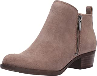 Lucky Brand Women's Basel Ankle Bootie, Brindle Suede, 7.5 M US