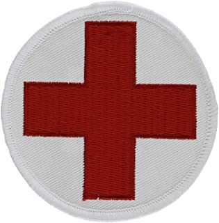 EagleEmblems PM3961 Patch-Medic,Red Cross,RND (3'')