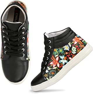 Denill Latest Collection, Comfortable & Stylish Synthetic Leather Ankle Length Boot Sneakers for Women's and Girl's