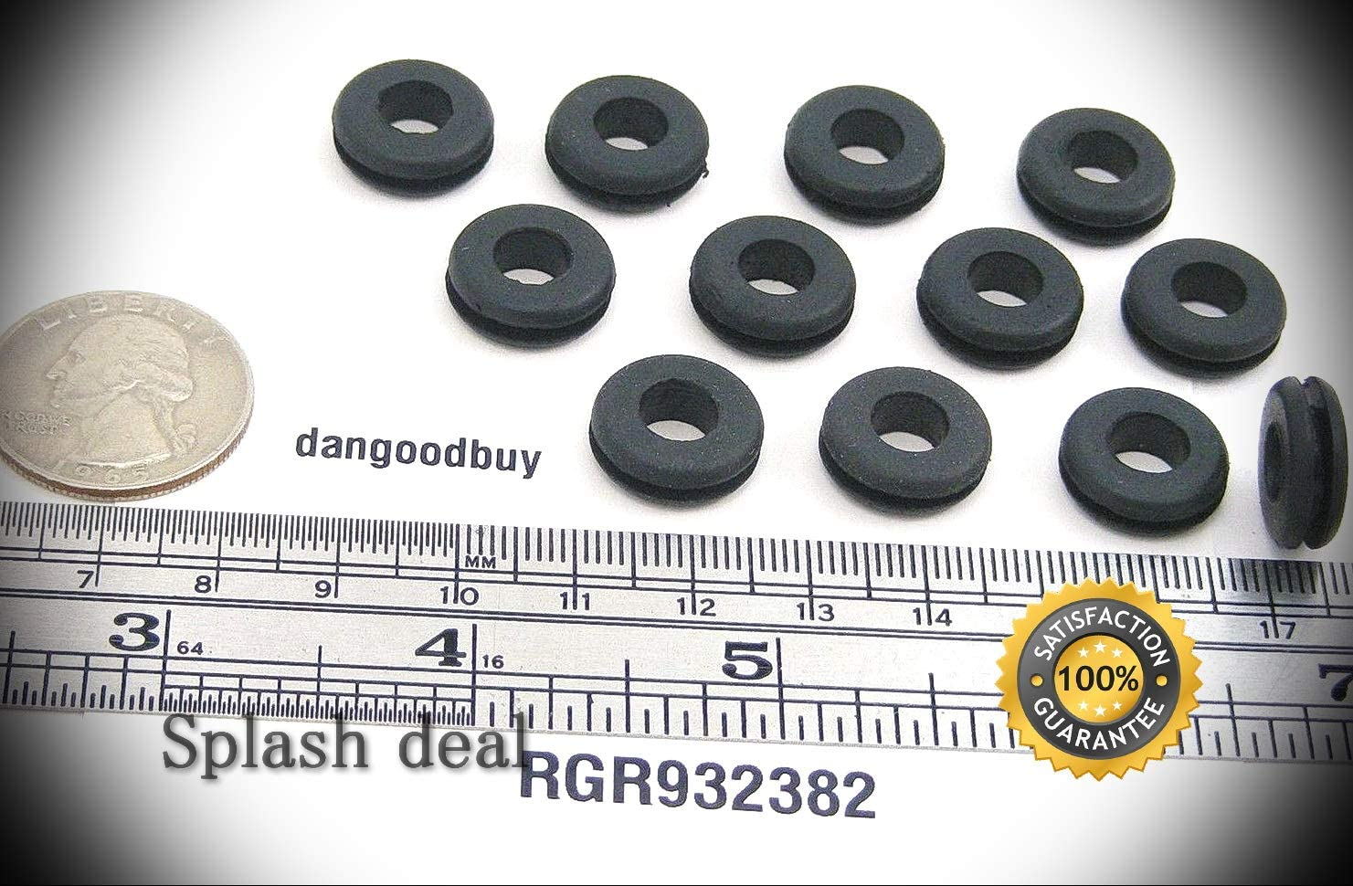 25 Bombing free shipping Rubber Grommets 9 32