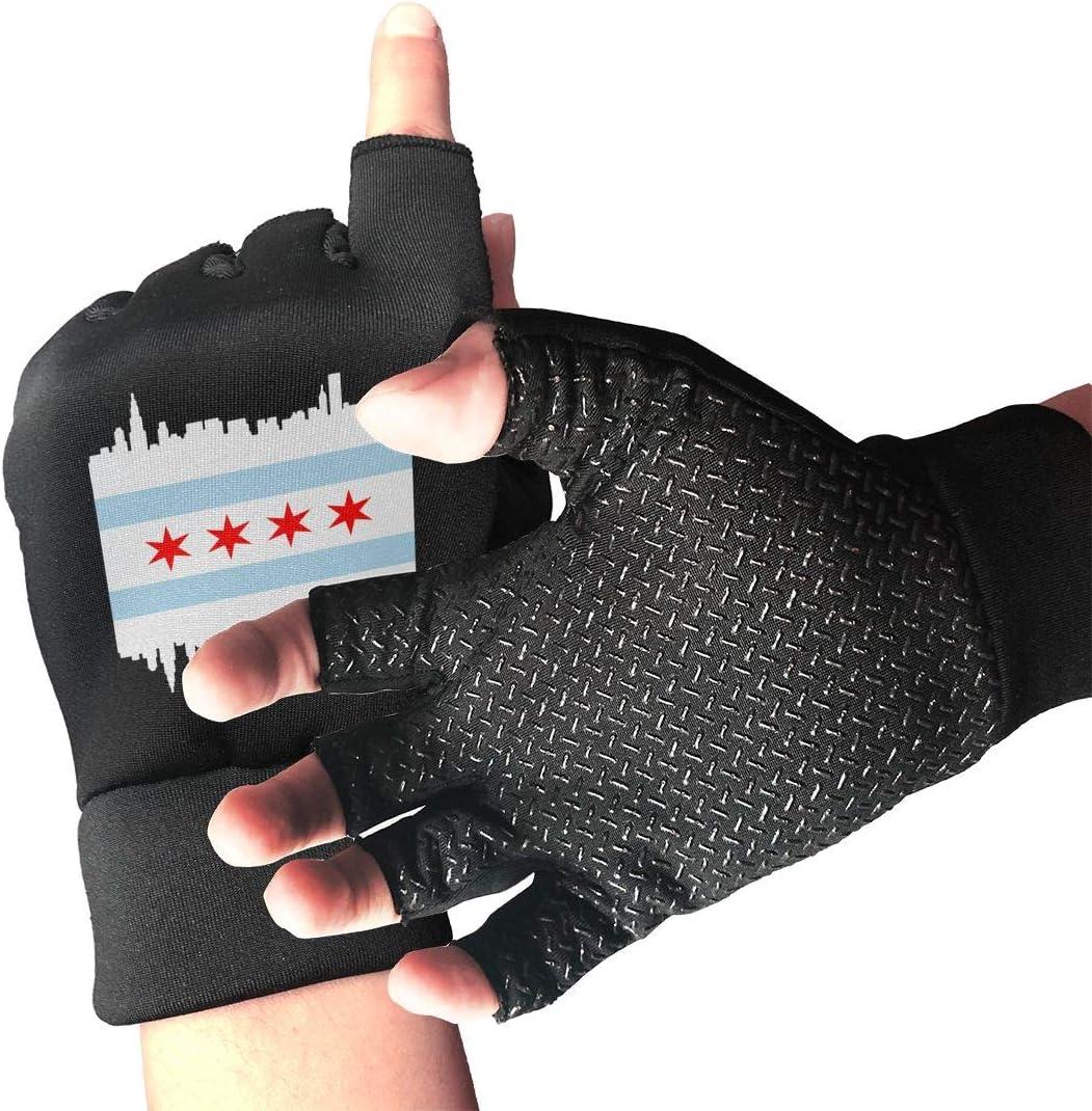 Mens Womens Chicago Illinois Flag At the price Fingerless Gloves Arthriti for outlet