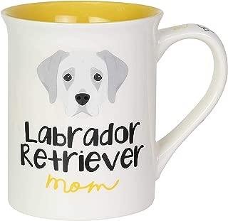 Enesco 6003697 Our Name is Mud Labrador Retriever Dog Mom Coffee Mug, 16 Ounce, Multicolor