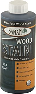 SamaN Interior Water Based Stain for Fine Wood, Navy, 12 oz