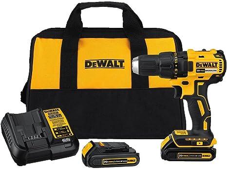 DEWALT 20V MAX Cordless Drill / Driver Kit, Compact, Brushless (DCD777C2)