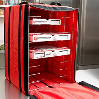 American Metalcraft PB1926 Pizza Delivery Bag with Rack, Deluxe, Holds Up to 10 Pizza Boxes, 27