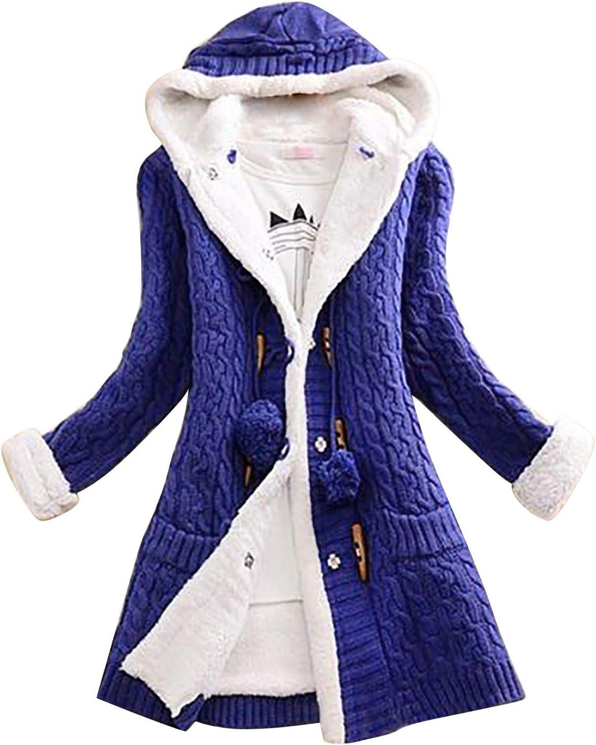Gwewei4df Womens Fresno Mall Plus Size Hoodie Kni Cardigan Casual Coat Denver Mall Women