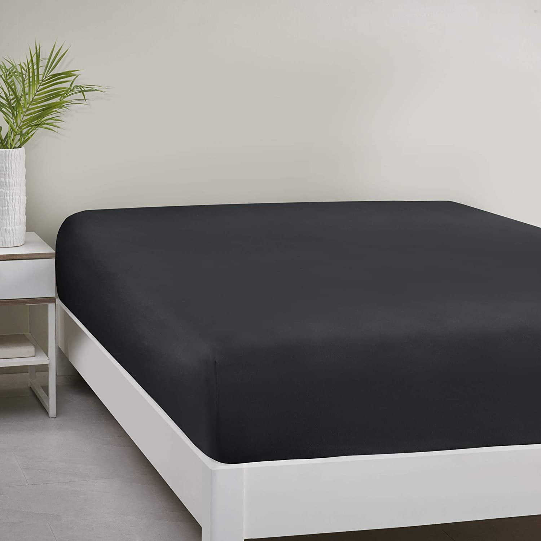 Comfort Spaces Microfiber Black Bed Sheet
